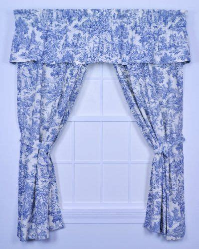 toile curtains park toile tailored valence window curtain blue by ellis curtain