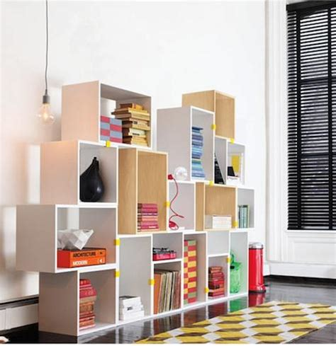 kin librero storage high low modular bookshelves remodelista