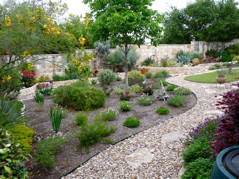 Xeriscaped Backyard Design by Lovely Wall Surrounding A Xeriscaped Yard Desertscape Landscaping Ideas