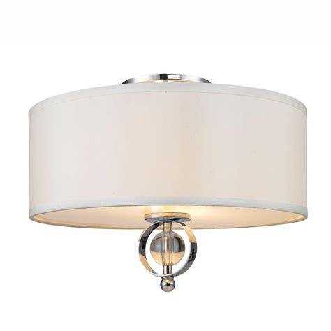 chrome flush mount light glomar lamberta 2 light polished chrome flushmount with