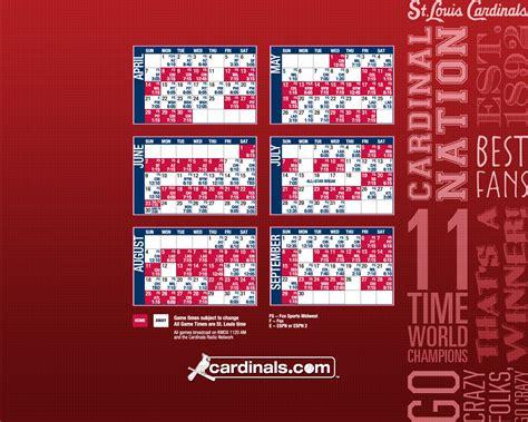 st louis cardinals  schedule wallpaper  wallpapersafari