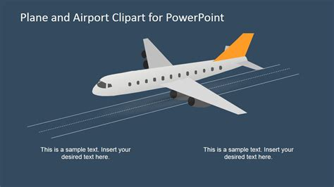 airport powerpoint template 3d airplane and airport shapes for powerpoint slidemodel