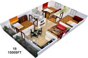 home design plans for 1500 sq ft 3d 1500 sq ft 3 bhk 3t apartment for sale in sai sumukha properties telecom clusters banashankari