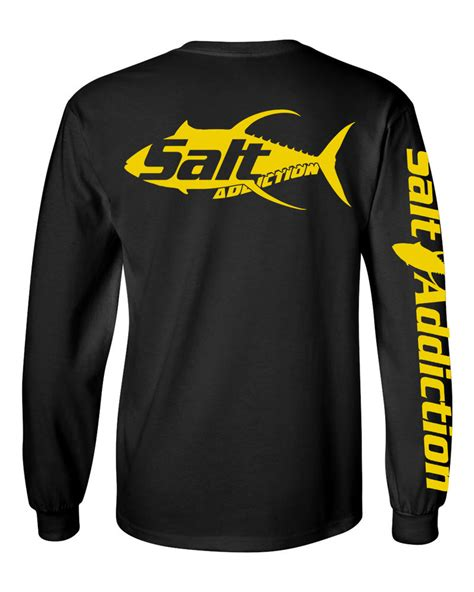 Tshirt Kaos Longsleeve Salt Addiction salt addiction sleeve saltwater fishing t shirt