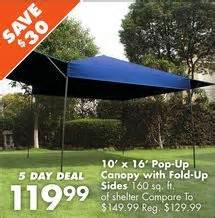 Big Lots Pop Up Canopy by 10 X 16 Pop Up Canopy With Fold Up Sides From Big Lots