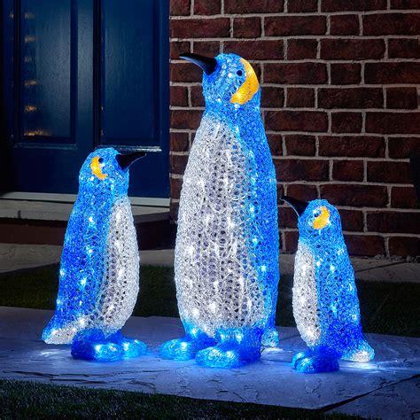Acrylic Led Penguin Family Penguin Lights