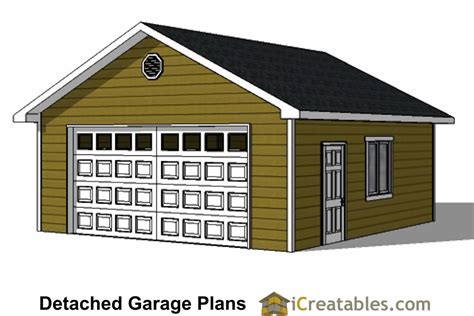 2 1 2 Car Garage Plans by Diy 2 Car Garage Plans 24x26 24x24 Garage Plans