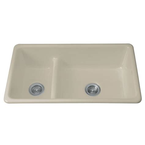 kohler cast iron sink kohler iron tones smart divide top mount undermount cast