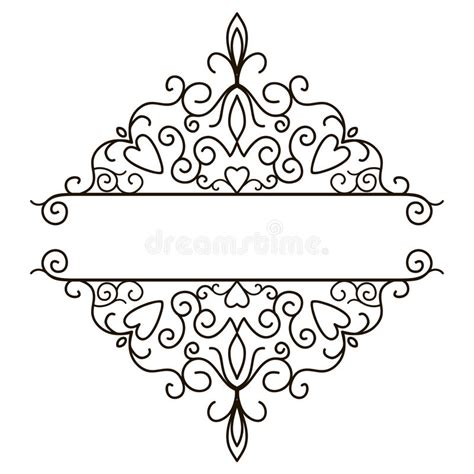 vector decorative design elements page decor vintage design elements for page border stock vector