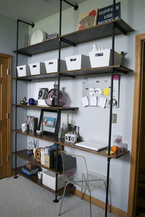 Bookcase Desk Diy My Diy Plumbing Parts Bookshelf Desk Original Idea Found On The Brick House Diy