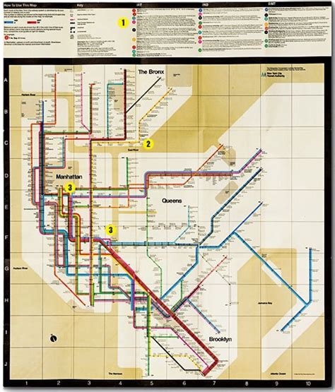 Vignelli Subway Map by Vignelli 1972 Subway Map Graphic Design Typography