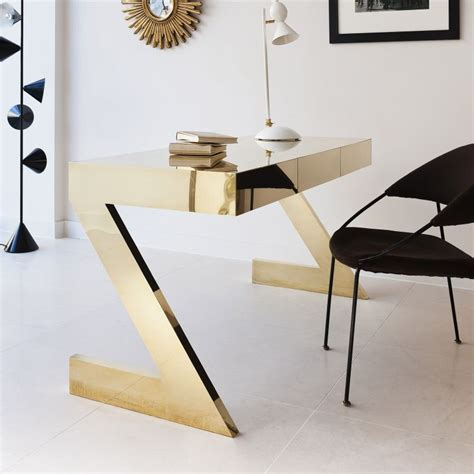 gold and glass desk black and gold luxury modern office find more luxury