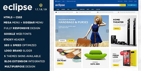 Eclipse Themes Magento | 20 best responsive magento shopping themes templates