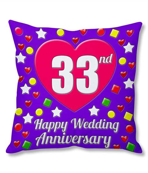 Photogiftsindia 33rd Wedding Anniversary Cushion Cover