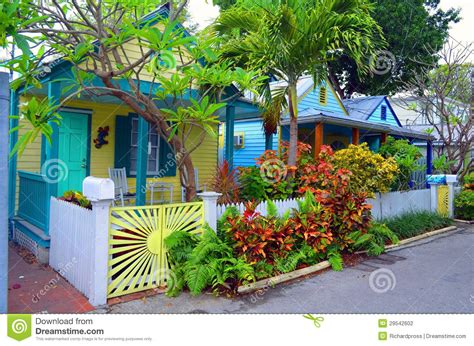 Cottage House Plans One Story colorful key west cottages stock photography image 29542602