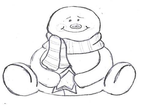 snow snowman template  bearfoot baker