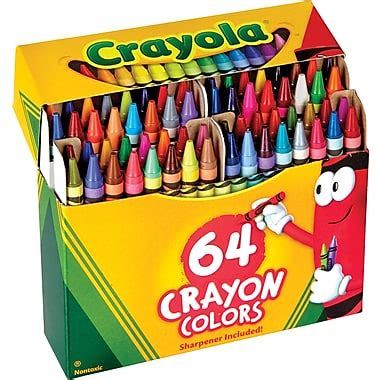 64 in the box fly with this color box robin s egg blue crayola 174 crayons 64 box staples