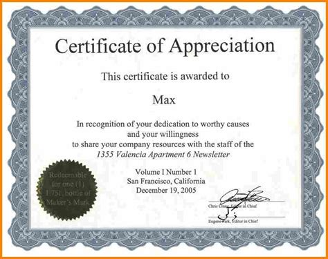 certificate  appreciation wording task list templates