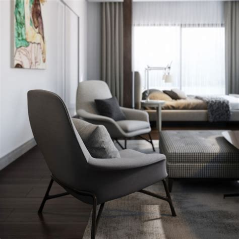 Modern Bedroom Chair | calming modern interiors