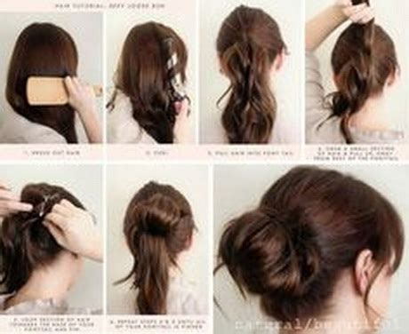 how to make a bun with a bob cut messy bun long hair hair style and color for woman