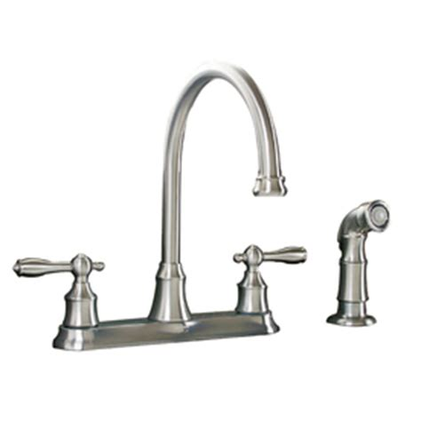 aquasource kitchen faucet shop aquasource stainless steel pvd 2 handle high arc