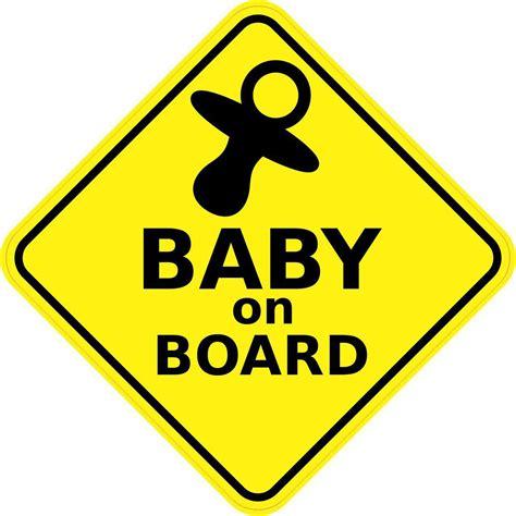 Baby On Board Sticker by 5inx5in Baby On Board Sticker Vinyl Window Sign Car Decal