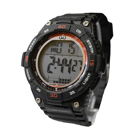 Jam Pria Q Q Qq1515 Black jual q q m147j003y jam tangan pria black harga