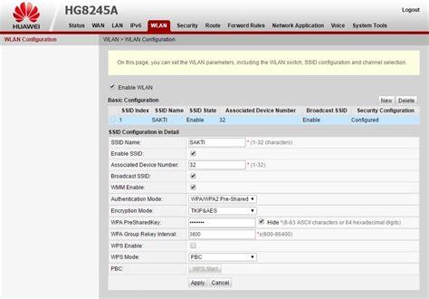 Wifi Huawei Hg8245a Cara Mengganti Nama Ssid Password Wifi Modem Indihome