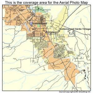 aerial photography map of cottonwood az arizona