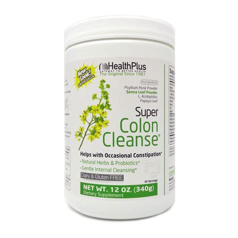 Detox Powder by Colon Cleanse Powder By Health Plus 12 Ounces