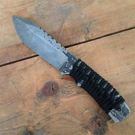 Handmade Survival Knife - buy a made grunt paracord made to order from df
