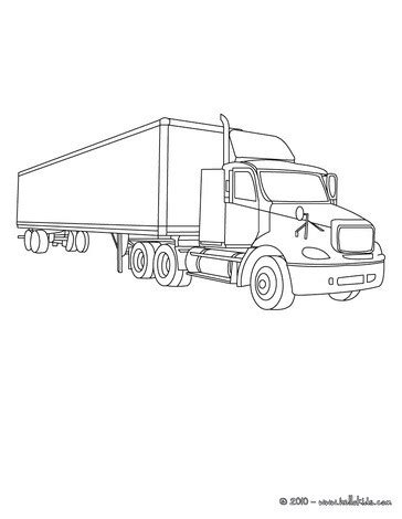 coloring pages of tractor trailers pin tractor trailer coloring page tow truck caterpillar on