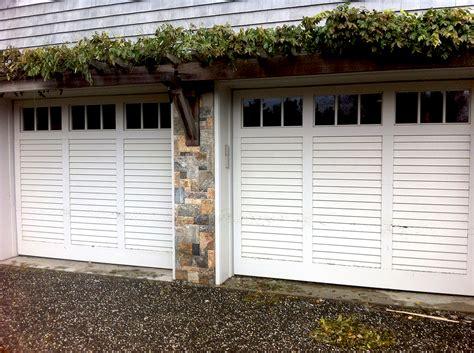 Garage Shutter Doors Ultra Custom Wood Shutter Type Door Aj Garage Door