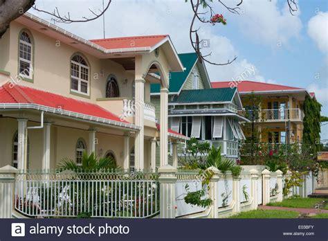 houses in guyana colonial houses georgetown guyana stock photo royalty