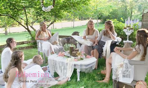 Home Interior Party bohemian garden party decor hallstrom home