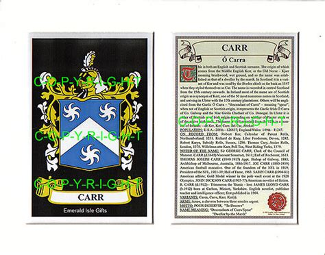 the carr family records embracing the record of the families who settled in america and their descendants with many branches who came to this country at a later date classic reprint books heraldic mounts carr family crest and history