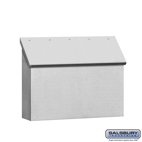 stainless steel mailbox salsbury industries 4510 stainless steel mailbox