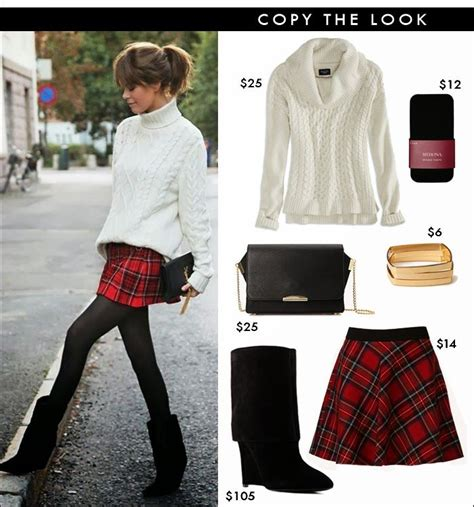 Winter Fashion Trends How To Wear Plaid by How To Wear Plaid Plaid Skirt Skater Skirt Look For