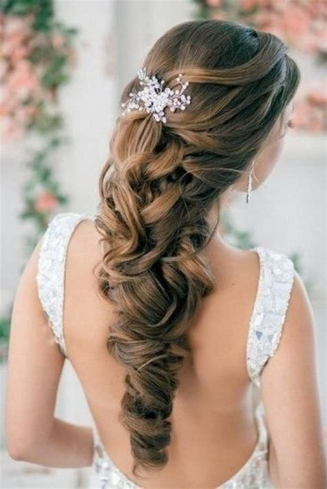 elegant hairstyles bump prom half up half down hairstyles
