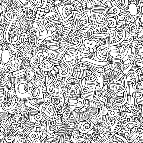 free doodle pattern vector vector doodles food seamless pattern