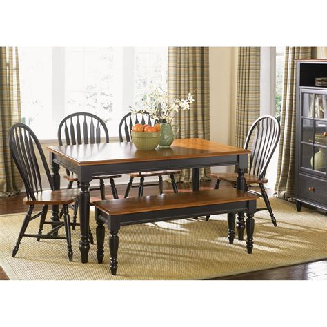 country dining room table liberty furniture low country black rectangle leg dining