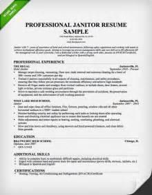 janitor resume sle this resume sle to use