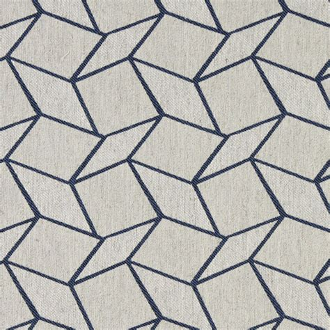 Blue And White Upholstery Fabric Blue And White Geometric Boxes Upholstery Fabric By