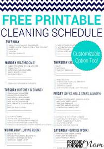 cleaning calendar template free printable cleaning schedule