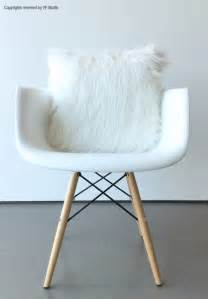 White Fluffy Cushion Covers Scandinavian Modern White Fur Pillow Cover 16 X 16 Fluffy