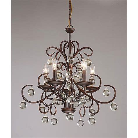 Dining Room Lighting Overstock Wrought Iron And 5 Light Chandelier