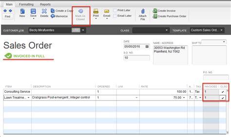 quickbooks tutorial sales order quickbooks manually closing sales orders method community