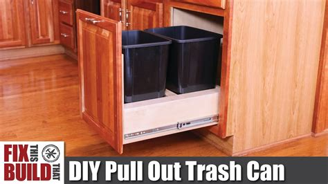 workbench out of kitchen cabinets diy pull out trash can in a kitchen cabinet how to