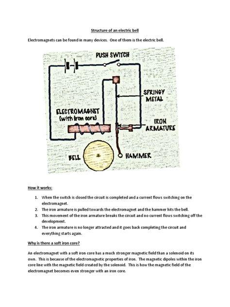 circuit diagram electric bell electromag wiring diagram