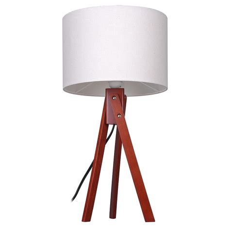 bedroom light stand modern tripod table desk floor lamp wood wooden stand home 10527 | 11dsl001 tri01 nut 03